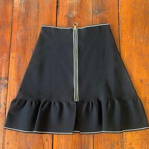 Mini black skirt sandro zipper white